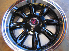 Competizone Sport Tuning Monza Wheels - 15 x 6.5 Gloss Black, Set of 4