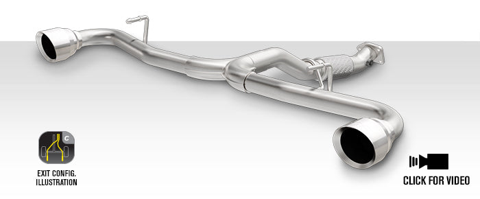 500 Abarth Cat Back Performance Exhaust System, Magnaflow