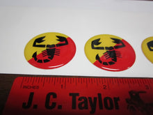 "1 1/2"" Abarth Style Wheel Emblems"