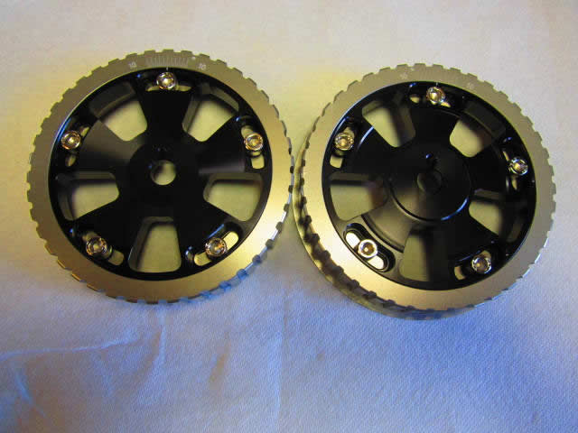 Twin Cam Adjustable Cam Gears (Black)