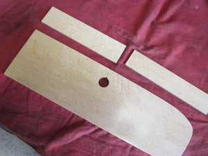 Birds' Eye Maple Dash Kit, 5 hole, straight bottom