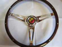 380mm Steering Wheel w/Abarth horn button, light wood, Competizione Sport Tuning Brand