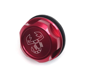 Scorpion Oil Filler Cap-billet aluminum, red