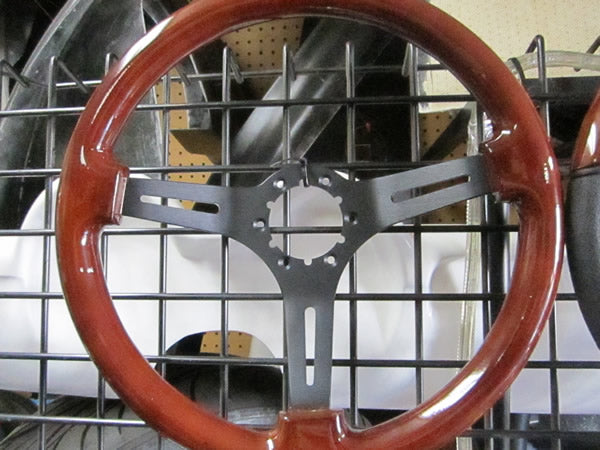 Volante 350mm Wood Steering Wheel with Black Center