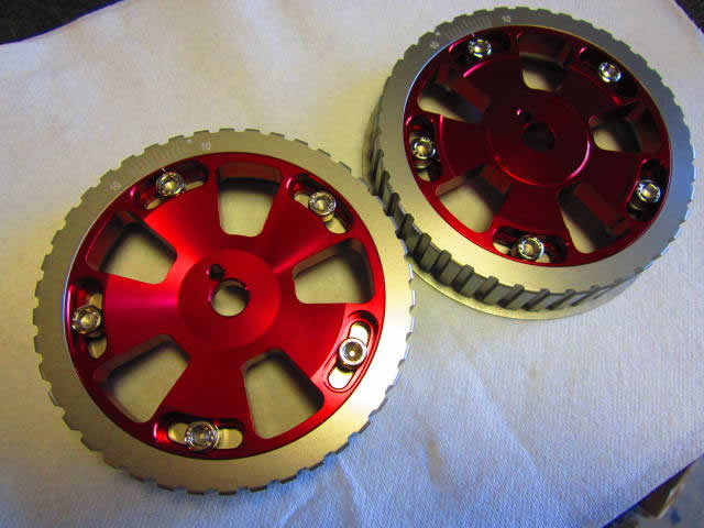 Twin Cam Adjustable Cam Gears (Red)