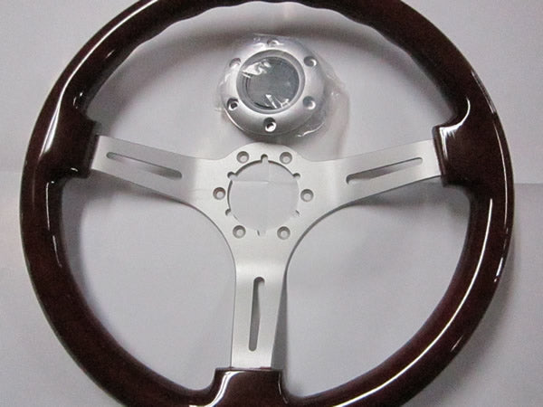 Volante 350mm Wood Steering Wheel with Satin Center