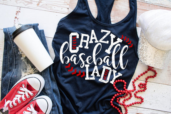 Crazy Baseball Lady Tank Top