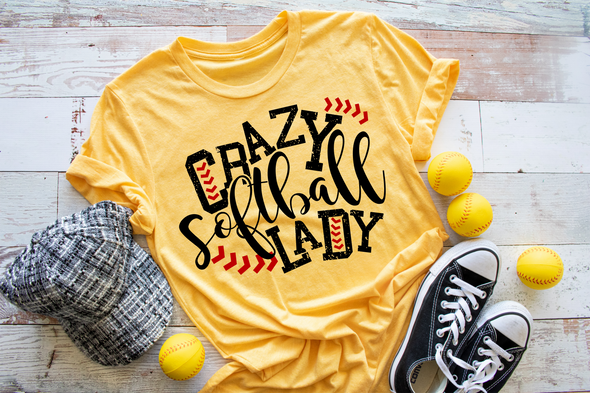 Crazy Softball Lady Women's Tee