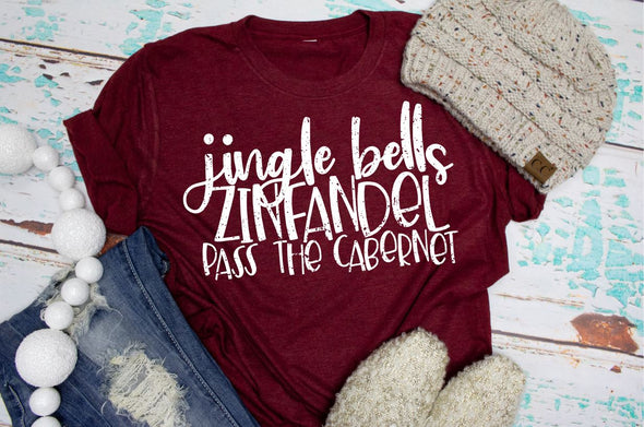 Jingle Bells Zinfandel Pass The Cabernet Women's Graphic Tee