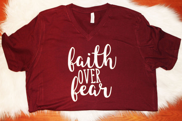 Faith Over Fear Adult Tee