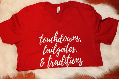 Touchdowns, Tailgates, Traditions Adult Tee