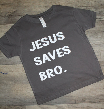 Jesus Saves Bro Kids Graphic Tee