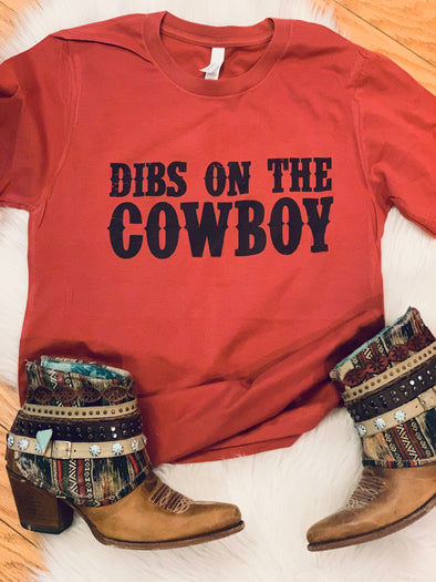 Dibs on the Cowboy Adult Tee