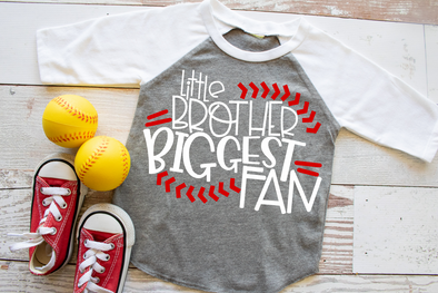 Little Brother Biggest Fan Kids Tee