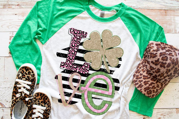 Love St. Patricks Day Women's Raglan