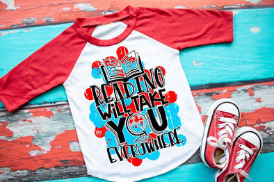 Reading Will Take You Everywhere Youth Raglan