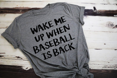 Wake Me Up When Baseball Is Back Women's Tee