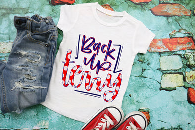 Back Up Terry 4th of July Kids Graphic Tee