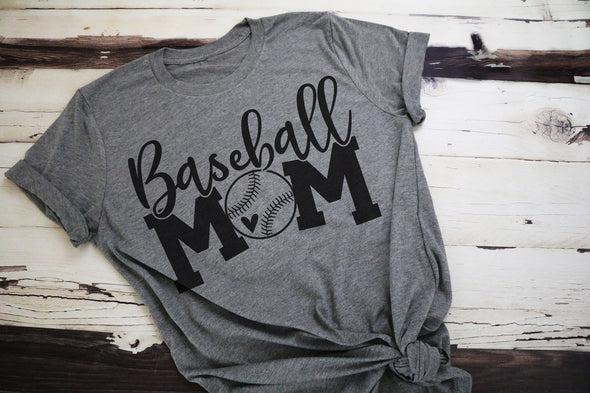Baseball Mom Adult Graphic Tee