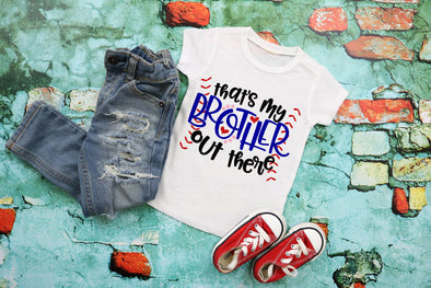 That's My Brother Out There Baseball Kids Graphic Tee