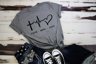 Faith Hope Love Adult Tee