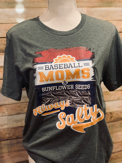 Baseball Moms Always Salty Women's Tee