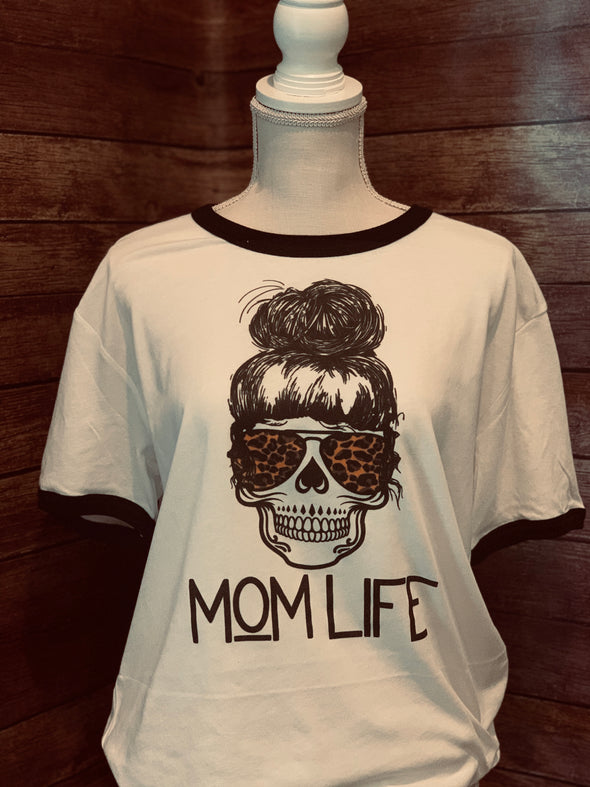 Mom Life Messy Bun Women's Tee