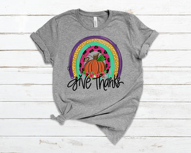 Give Thanks Pumpkin Adult Tee
