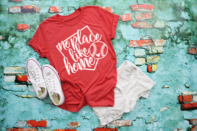 No Place Like Home Baseball Adult Graphic Tee