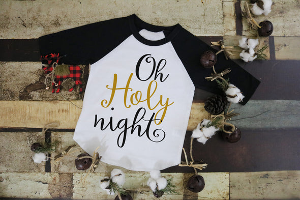 Oh Holy Night Women's Raglan