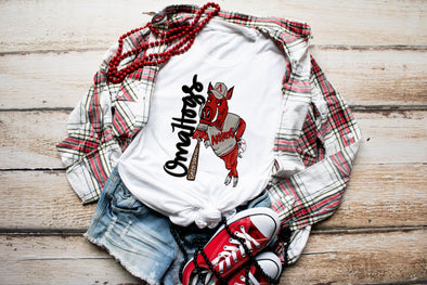 Omahogs Arkansas Razorback Baseball Adult Graphic Tee