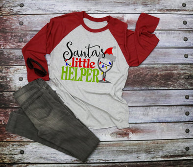 Santa's Little Helper Women's Raglan