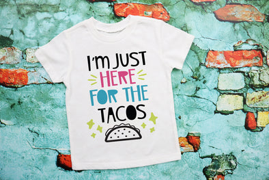 I'm Just Here For The Tacos Kids Graphic Tee