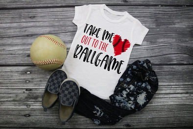 Take Me Out To The Ball Game Baseball Kids Graphic Tee