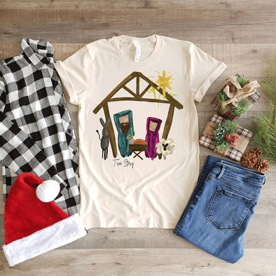 Nativity Scene True Story Women's & Youth Graphic Tee