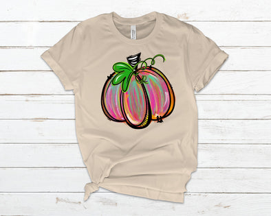 Water Color Pumpkin Adult Tee