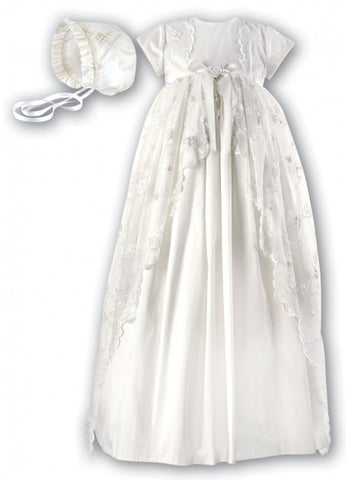 Sarah Louise Ivory Silk heirloom Christening Dress