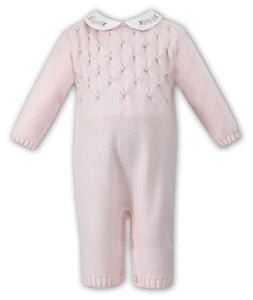 Sarah Louise Knitted Onesie with pearl smocking
