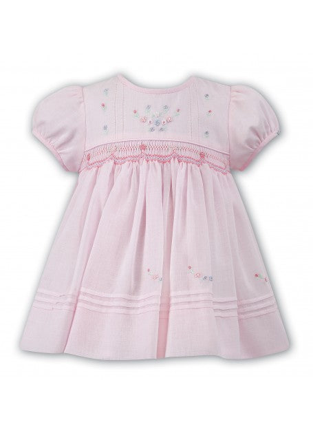 Sarah Louise Smocked Dress pink voile