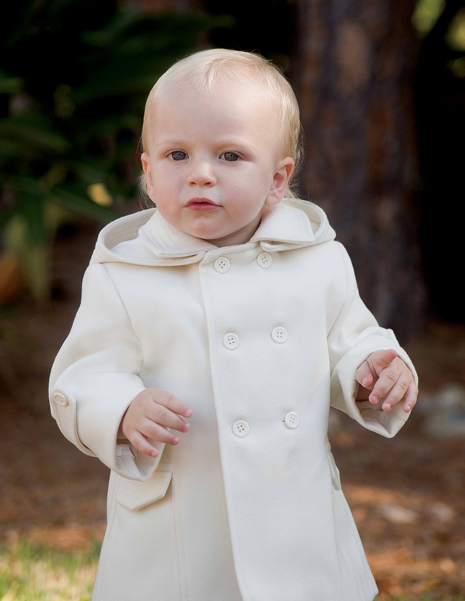 Sarah Louise Ivory Boy's coat with Hood