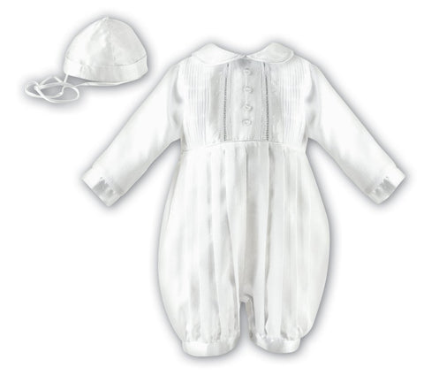 Sarah Louise Christening Romper and hat
