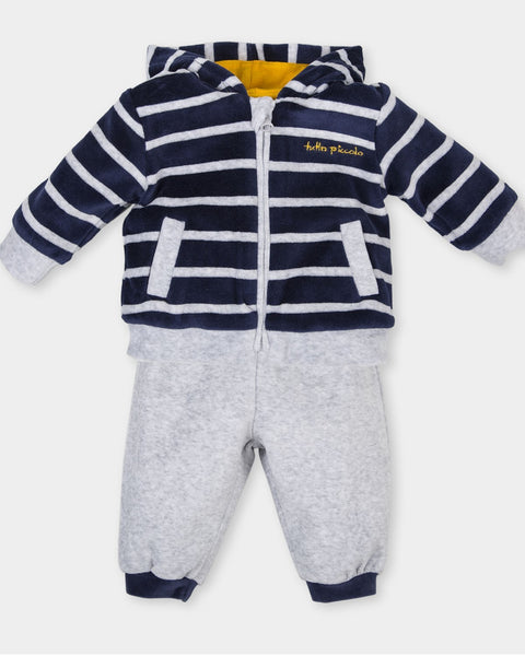 Tutto Piccolo Baby Boys Tracksuit Navy and Grey