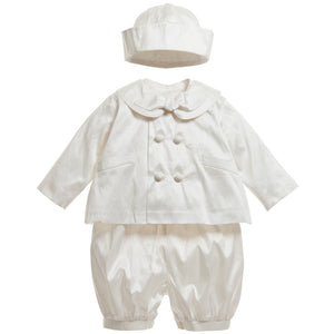 Sarah Louise Ivory silk christening outfit