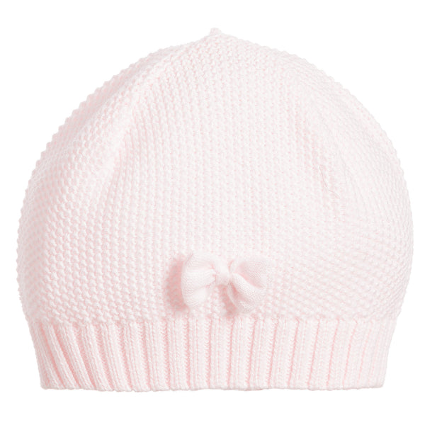 Emile et Rose Knitted pink babygrow and hat