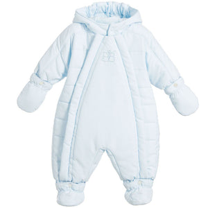 Emile et Rose Blue padded snowsuit