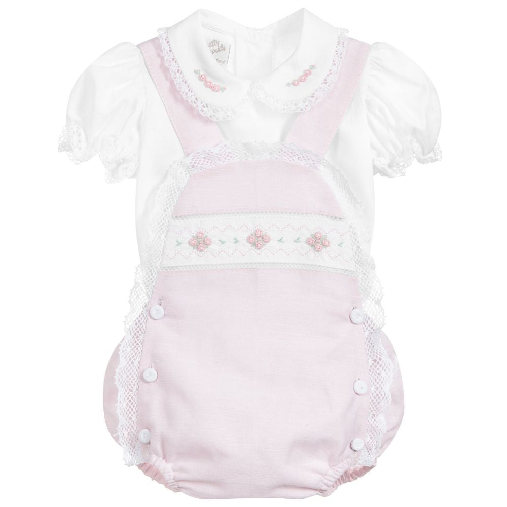 Pretty Originals pink dungaree set