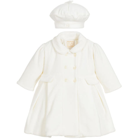 Emile et Rose Ivory velour coat
