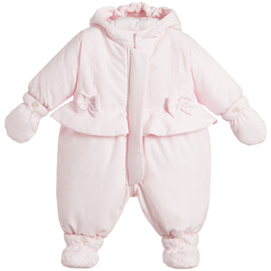 Emile et Rose Pink padded snowsuit