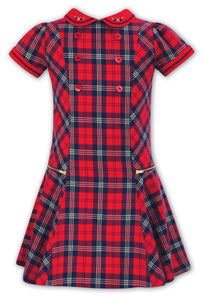 Sarah Louise Red tartan Sarah Louise drop waist dress