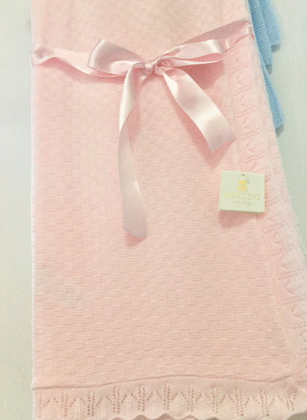 Spanish style Baby shawl blanket Free embroidery personalisation